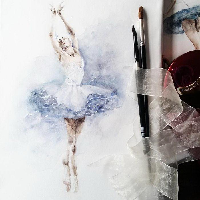 Балерины в иллюстрациях Yulia She