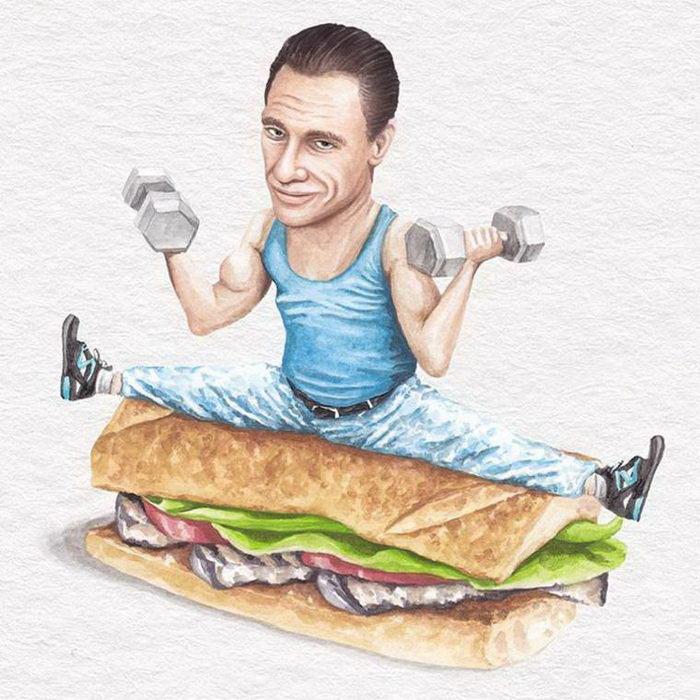 Сэндвичи со знаменитостями: рисунки Jeff McCarthy