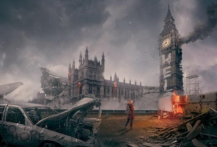 Как выглядят известные города после апокалипсиса