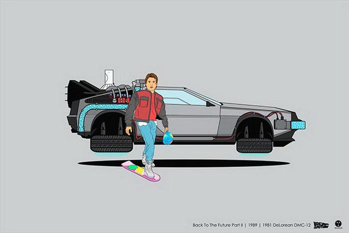 Известные герои фильмов и их транспортные средства