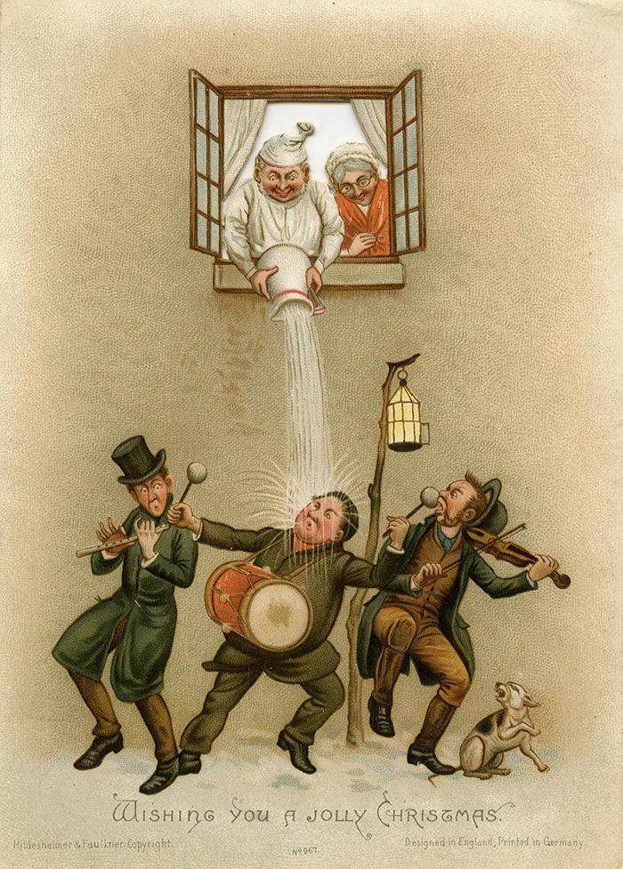 Жуткие рождественские открытки Викторианской Эпохи