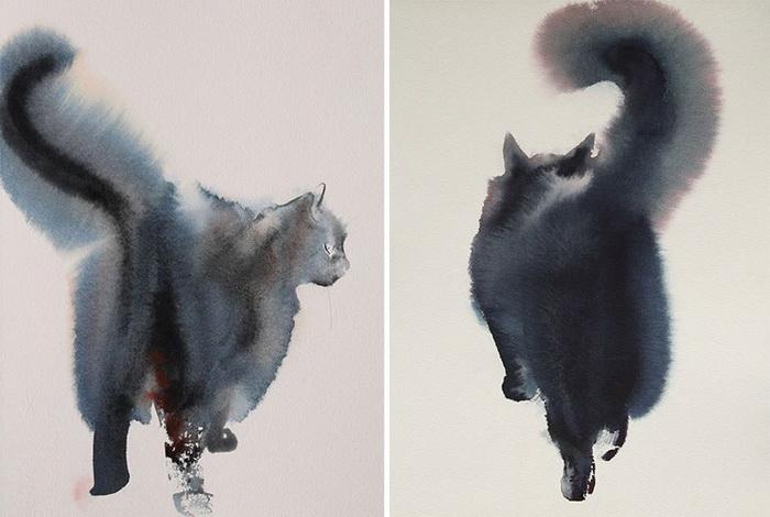 Акварельные кошки Endre Penovac