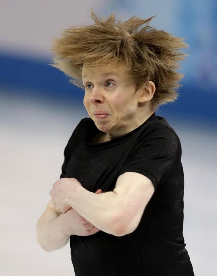 30 смешных лиц на соревнованиях по фигурному катанию