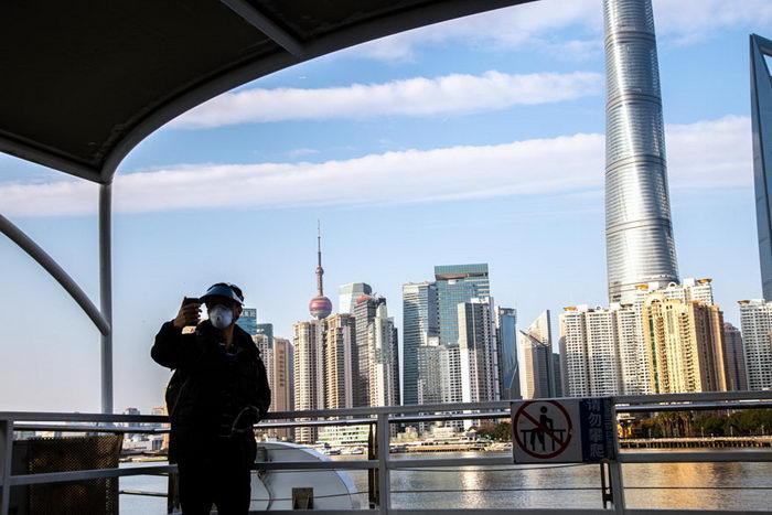 Безлюдный Шанхай во время эпидемии коронавируса