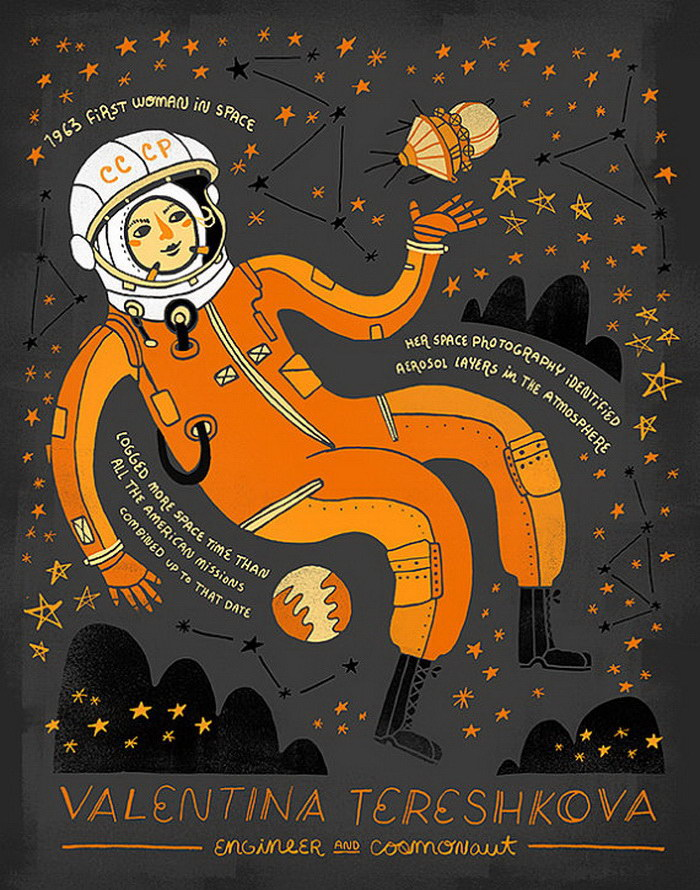 Женщины науки на плакатах Rachel Ignotofsky