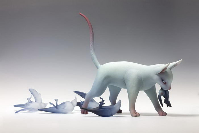 Любопытные скульптуры Erika Sanada