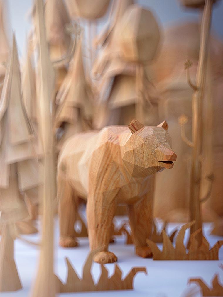 Стильные деревянные звери Mat Szulik