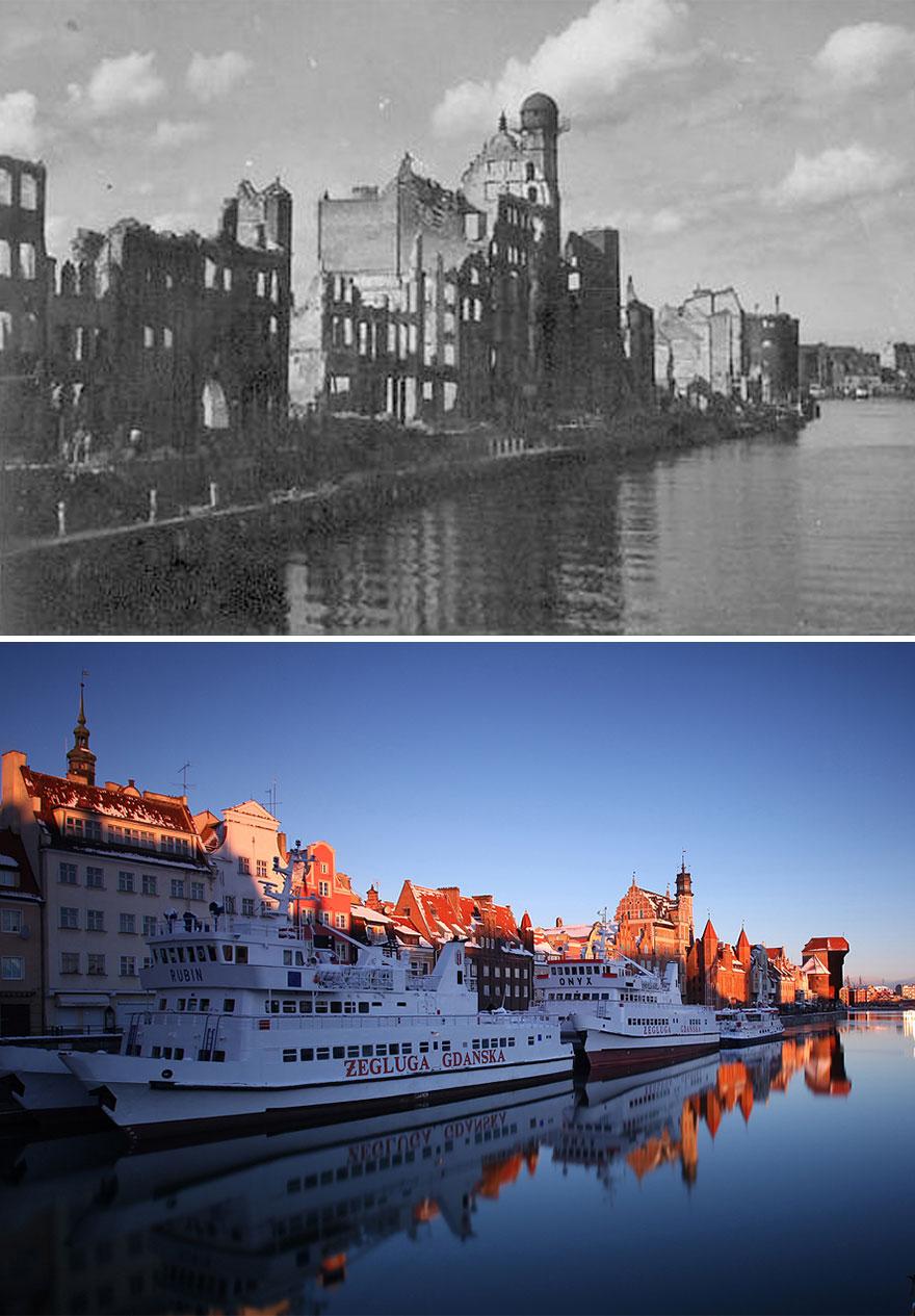 Гданьск сейчас и после Второй мировой войны