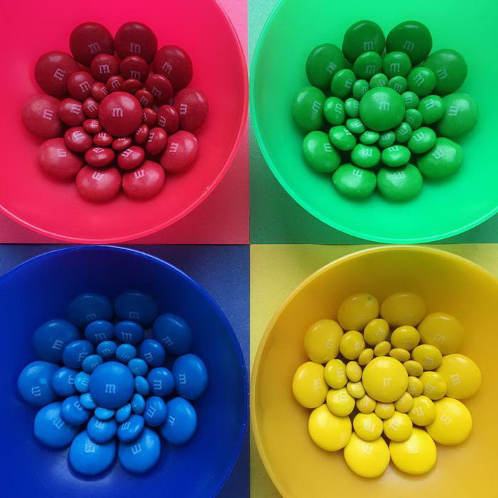 Сладости в цветовом градиенте: работы Witenry
