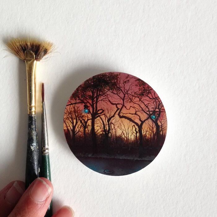 Миниатюрные картины Dina Brodsky