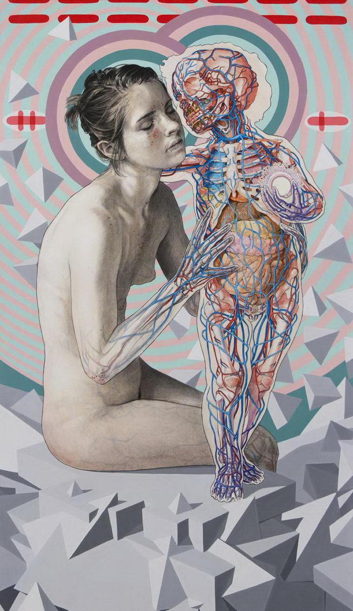 Скелеты и отношения: картины Michael Reedy
