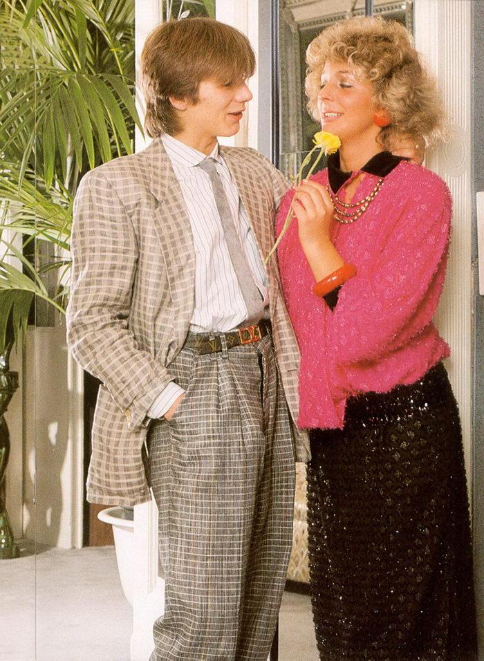 Мода 1980-х годов из журналов для взрослых
