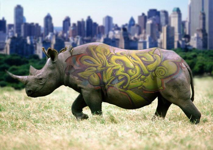 Фантазийные коллажи с животными