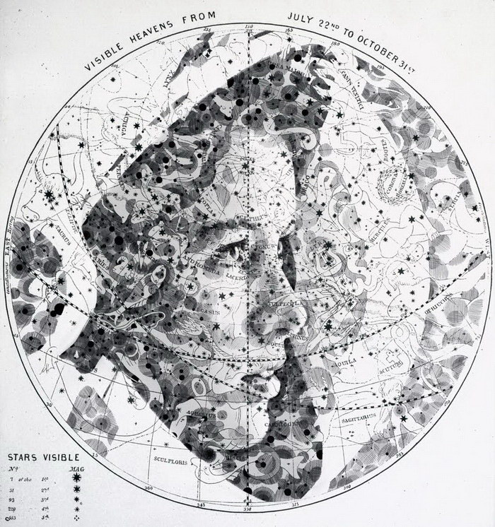 Женские портреты на географических картах Ed Fairburn
