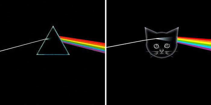 Обложки музыкальных альбомов с котятами Alfra Martini