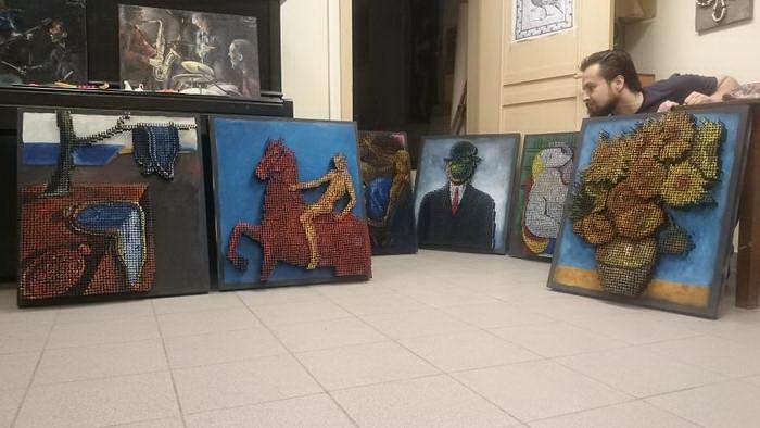 Картины из гвоздей Marat Nabi