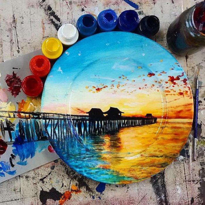 Разрисованные тарелки Jacqueline Poirier