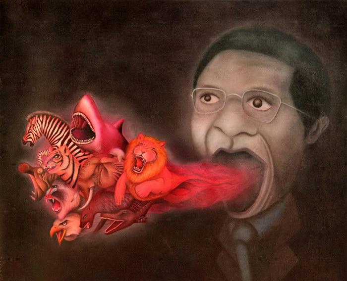 Сумбурные картины Yasuaki Okamoto