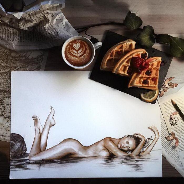 Реалистичные рисунки знаменитостей Giorgos Diamantis