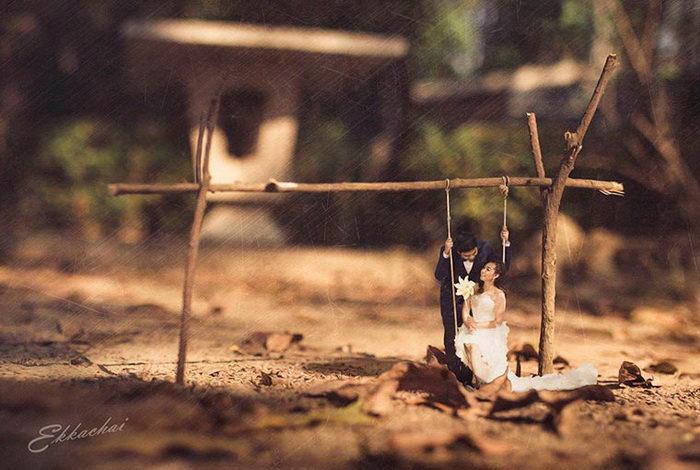 Уменьшенные люди в фотографиях Ekkachai Saelow