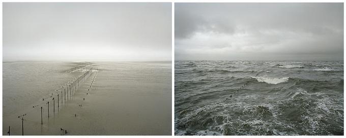 Пейзаж во время отлива и прилива