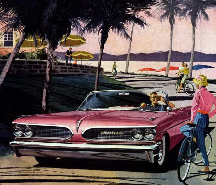 Невероятные Понтиаки: стильные иллюстрации середины XX века