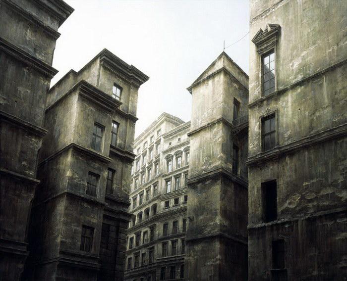 Несуществующий город в картинах Stefan Hoenerloh
