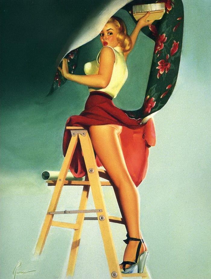 Классический пин-ап в рисунках Edward Runci