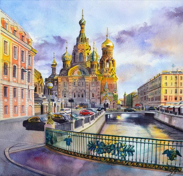 Картины в путешествиях Виктории Кравченко