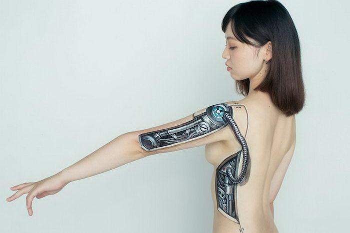 3D-рисунки на телах девушек: работы Chooo-San