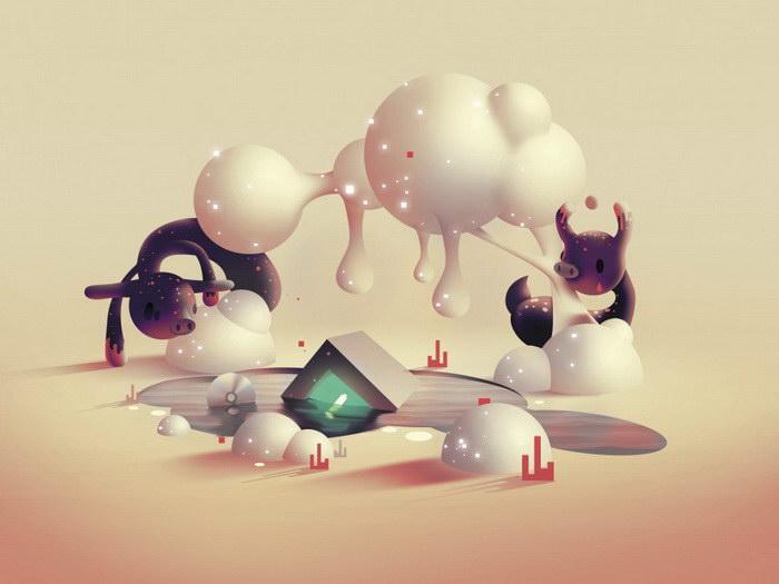Цифровые иллюстрации Aaron Campbell