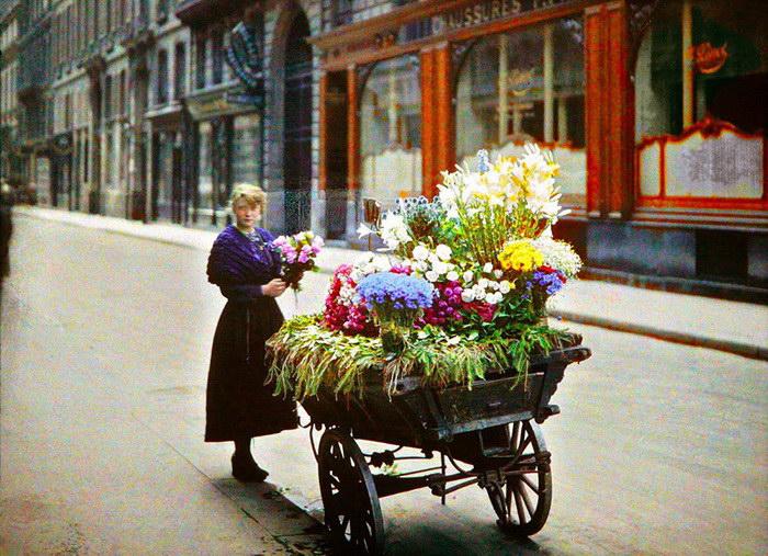 Удивительные цветные фотографии Парижа 1914 года