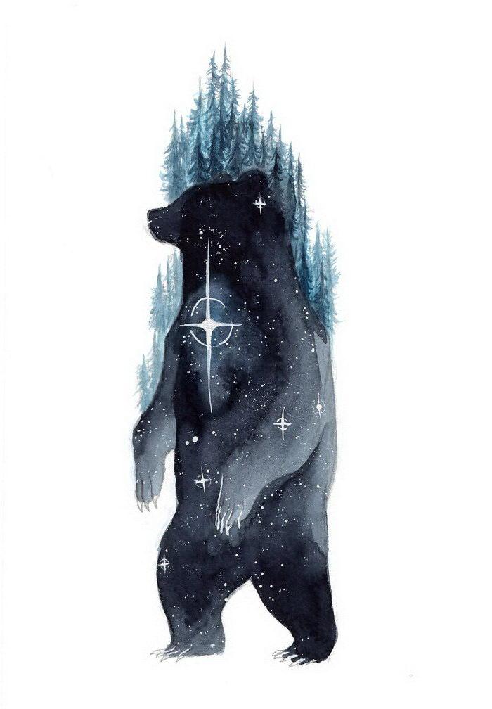 Галактические звери ThreeLeaves Artwork