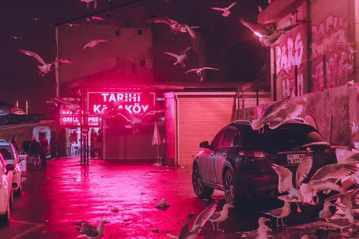 Ночные снимки пустых улиц Elsa Bleda