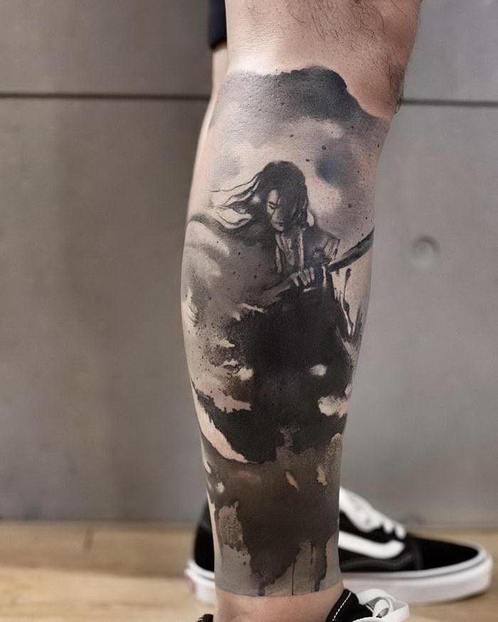 Татуировки с азиатским колоритом Chen Jie