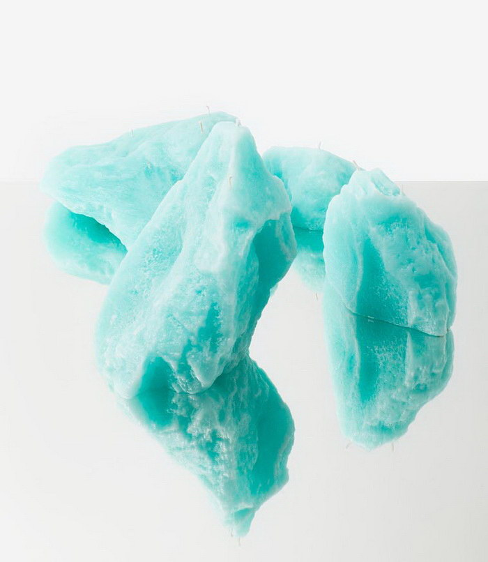 Стильные свечки в виде ледников