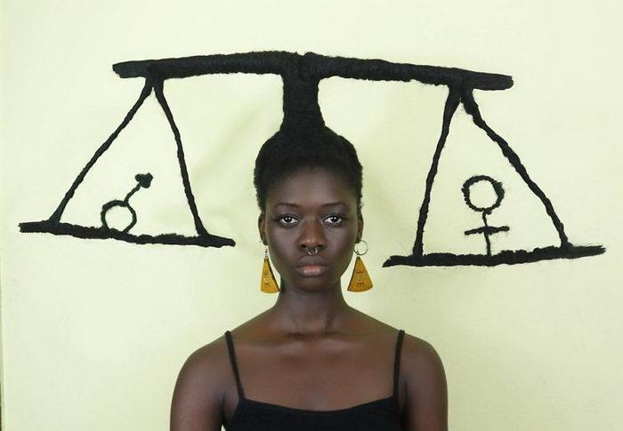 Невероятные скульптуры из волос Laetitia Ky