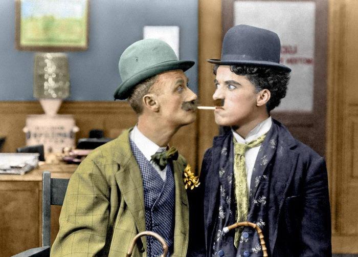 10 раскрашенных фотографий с Чарли Чаплином