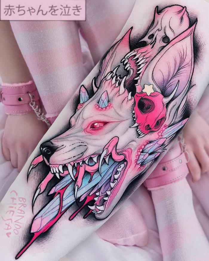 Безумные татуировки Brando Chiesa