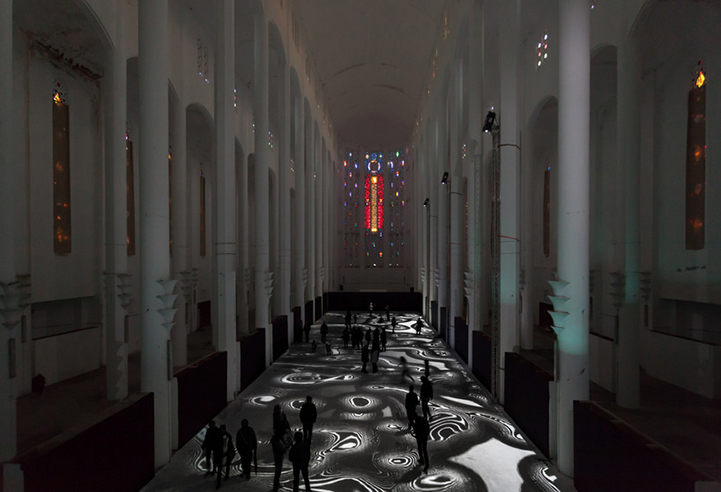 Световая инсталляция Miguel Chevalier