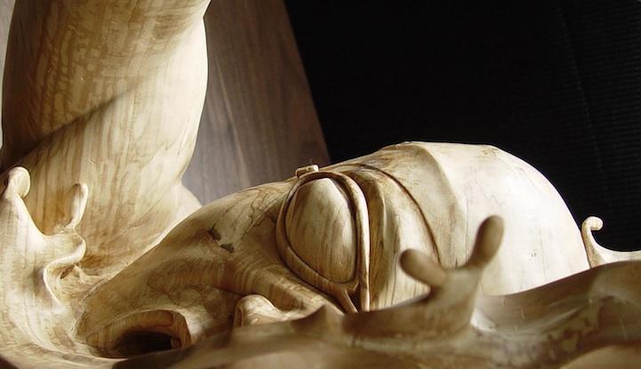 Деревянная скульптура Stefanie Rocknak