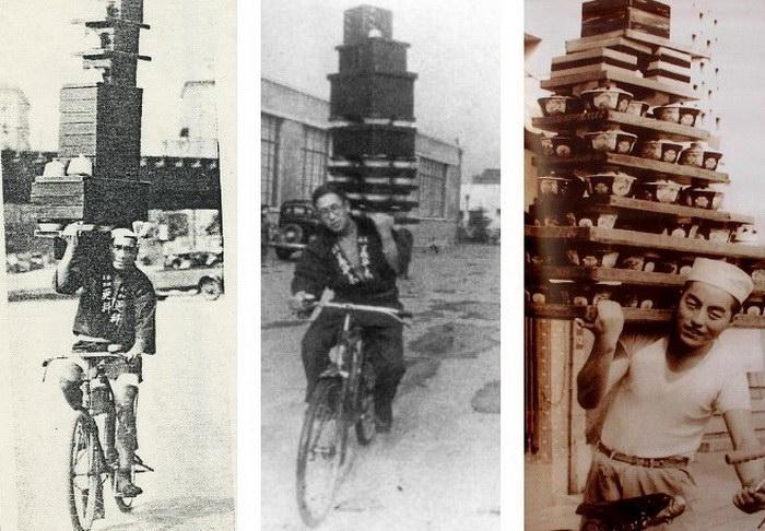 Доставка лапши в Японии середины XX века