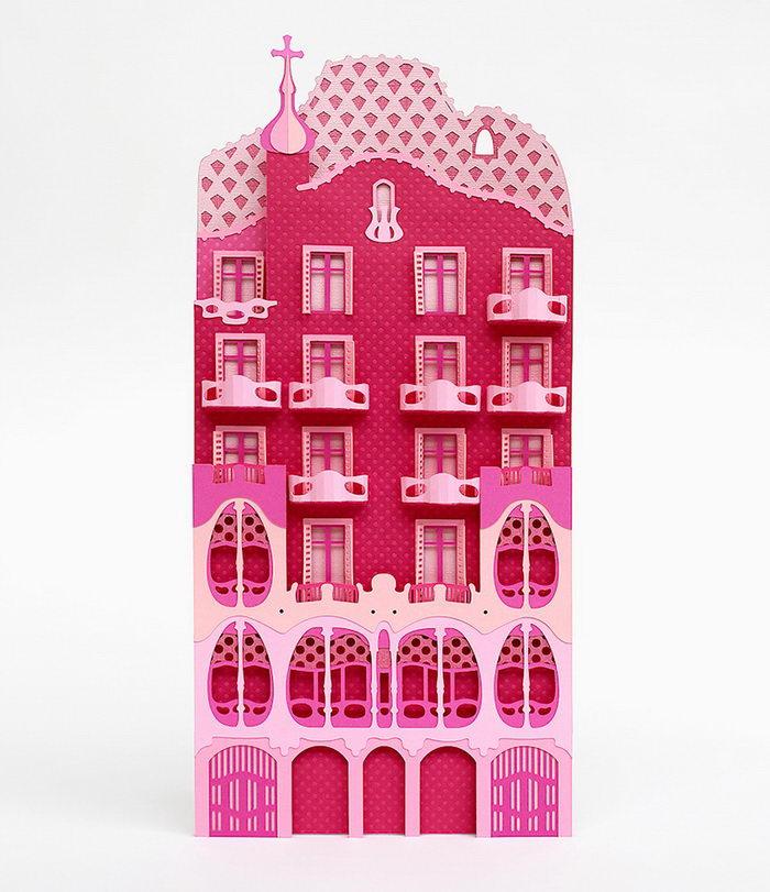 Бумажная Барселона в проекте Zim & Zou