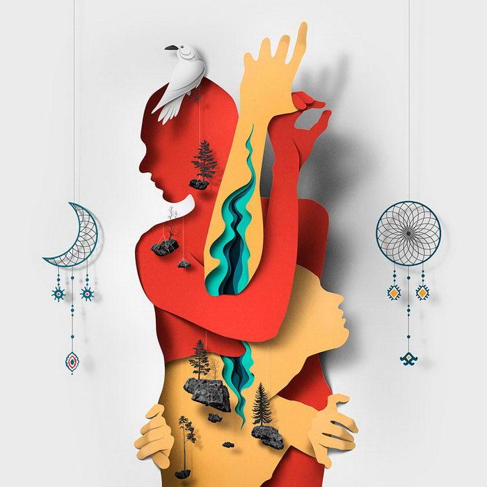 Объемные бумажные картины Eiko Ojala