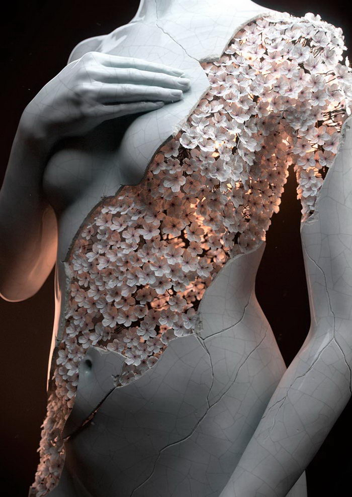 Цветочные скульптуры Jean-Michel Bihorel