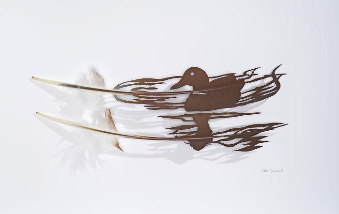 Резьба по птичьим перьям Chris Maynard