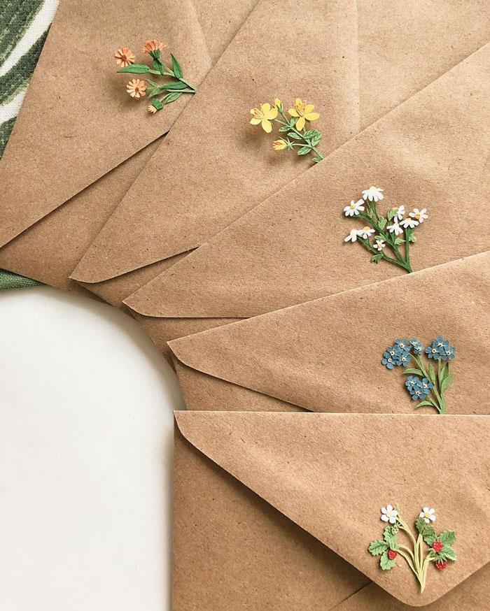 Бумажные букетики Tania Lissova