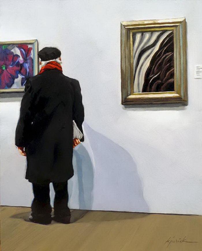 Картины, на которых люди смотрят на картины: проект Karin Jurick