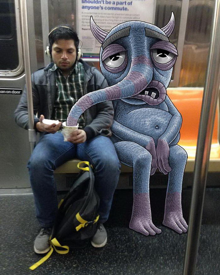Смешные рисунки, посвященные метро: работы Ben Rubin