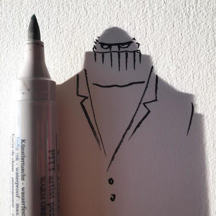 Тени как часть рисунка: удивительные работы vincent_bal